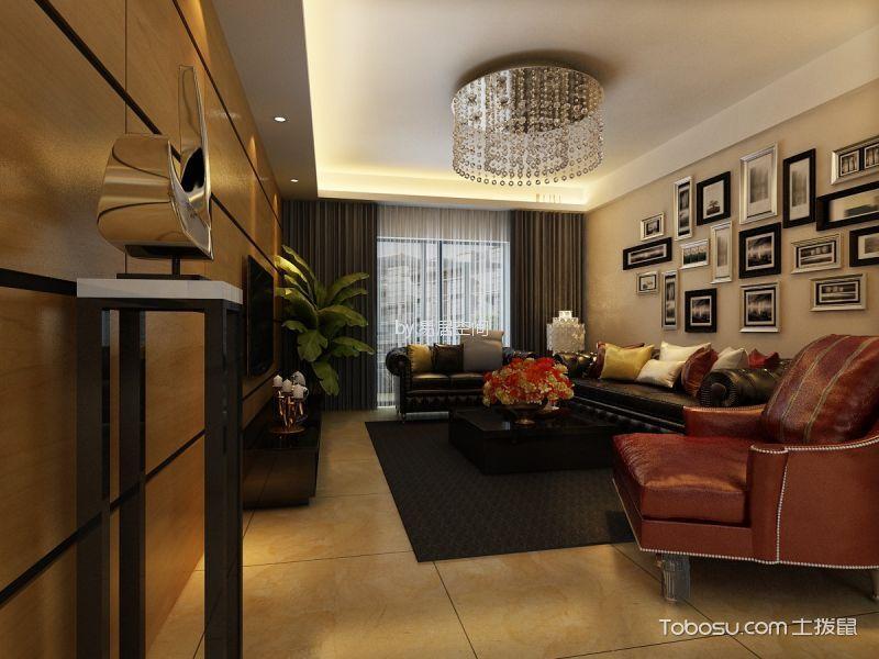 上海康城110平混搭风格两室一厅装修效果图