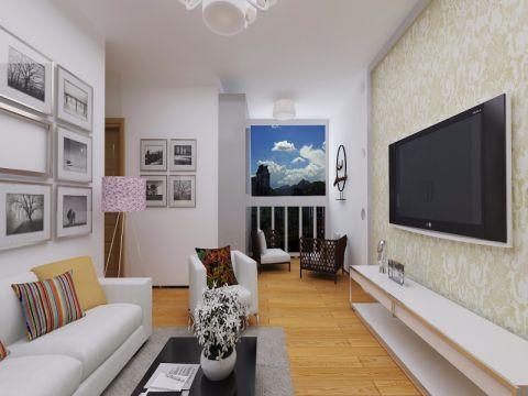 2019现代客厅装修设计 2019现代照片墙装修效果图大全
