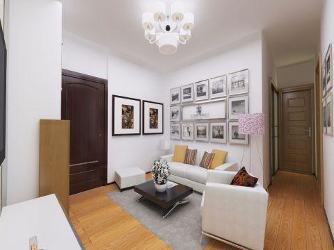客厅白色沙发现代风格装饰效果图