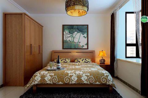 卧室米色吊顶中式风格装潢图片