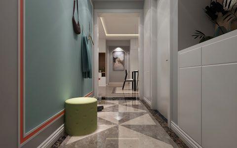 玄关彩色走廊现代风格装潢图片