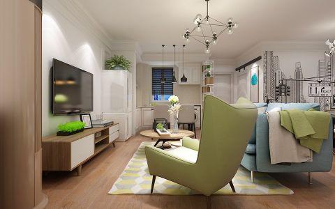 客厅白色吊顶欧式风格装饰设计图片