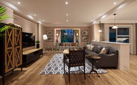客厅白色吊顶装修效果图