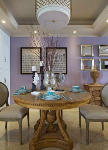 餐厅白色吊顶美式风格效果图