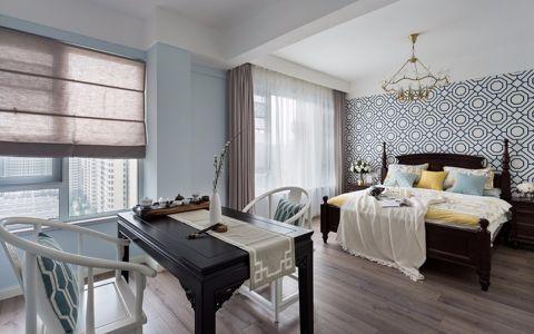 卧室灰色窗帘北欧风格装修图片