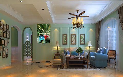客厅绿色背景墙效果图图片