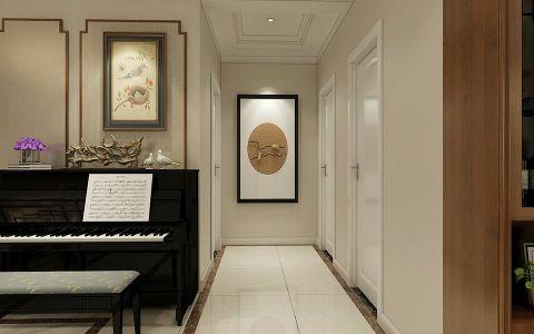 玄关米色走廊现代中式风格装修图片