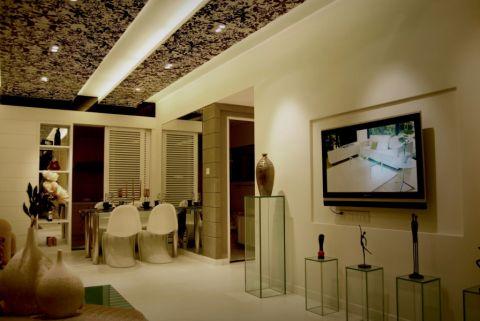 客厅咖啡色吊顶现代简约风格装潢设计图片