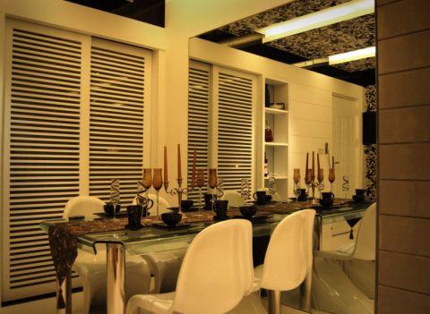 餐厅米色餐桌现代简约风格效果图