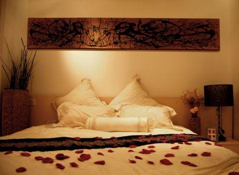 卧室米色背景墙现代简约风格装修效果图