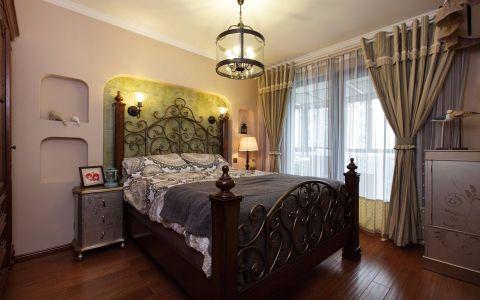 低调优雅绿色卧室装修案例图片