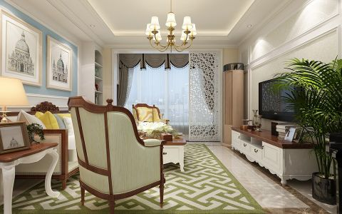 客厅白色吊顶设计图片