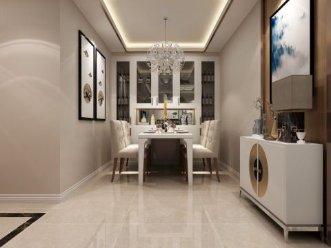纯净现代白色餐桌装修图