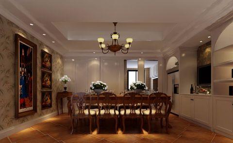 美式风格320平米跃层房子装饰效果图