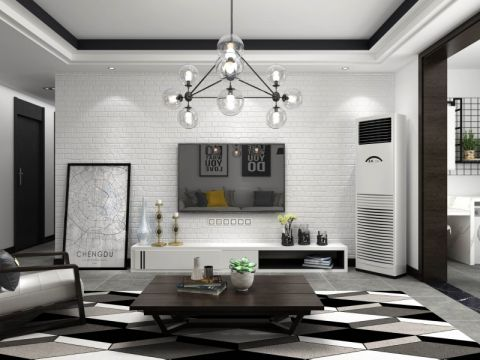 客厅背景墙现代风格装潢图片