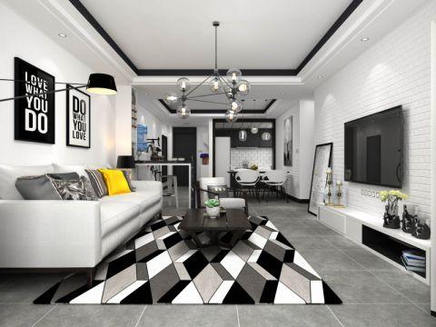 现代风格99平米3房2厅房子装饰效果图