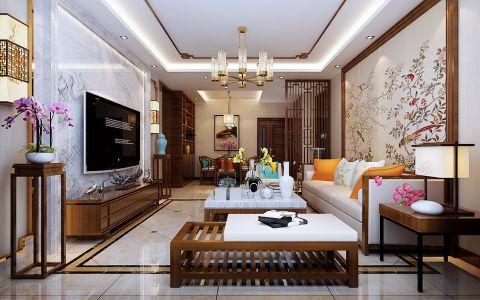 新中式风格140平米大户型房子装饰效果图