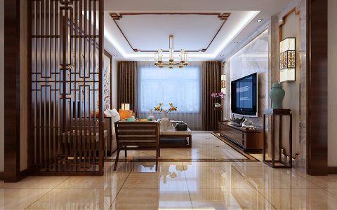 客厅窗帘新中式风格效果图