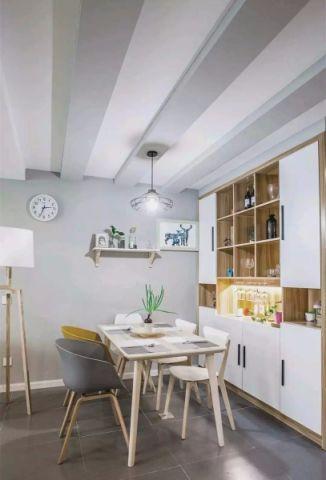 餐厅白色吊顶北欧风格装修设计图片