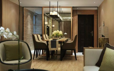 餐厅白色吊顶后现代风格装修效果图