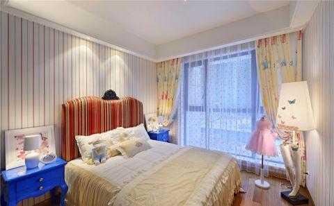 儿童房黄色窗帘后现代风格装修设计图片