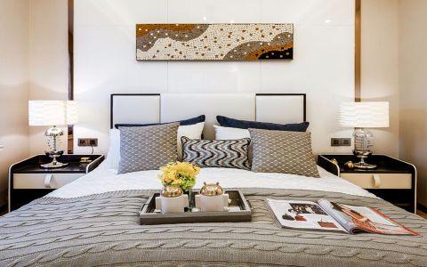 卧室白色床头柜后现代风格效果图
