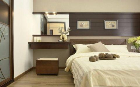 卧室米色背景墙现代风格装潢效果图