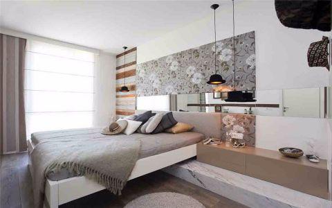 卧室白色吊顶现代风格装修图片