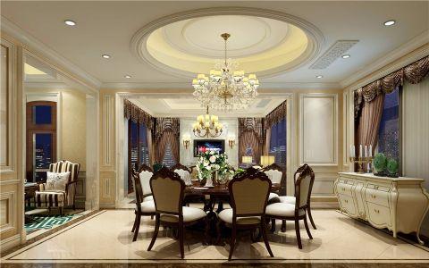 餐厅白色吊顶欧式风格装修设计图片