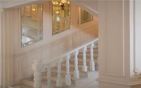 唯美米色楼梯装修图片