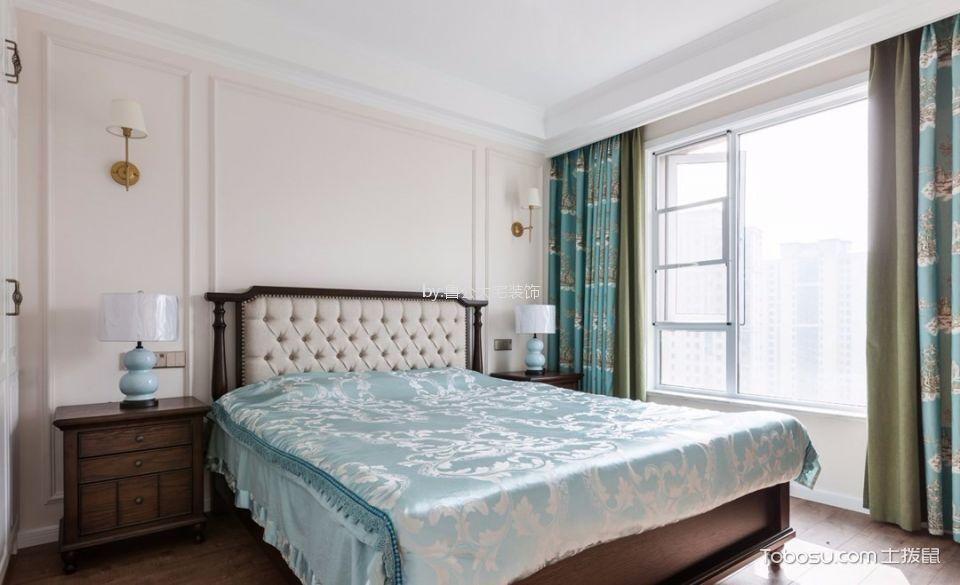 东海花园137平四室两厅两卫美式风格装修效果图