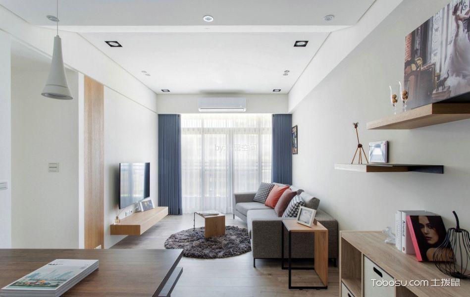 华丽家园70平米两室一厅日式风装修效果图