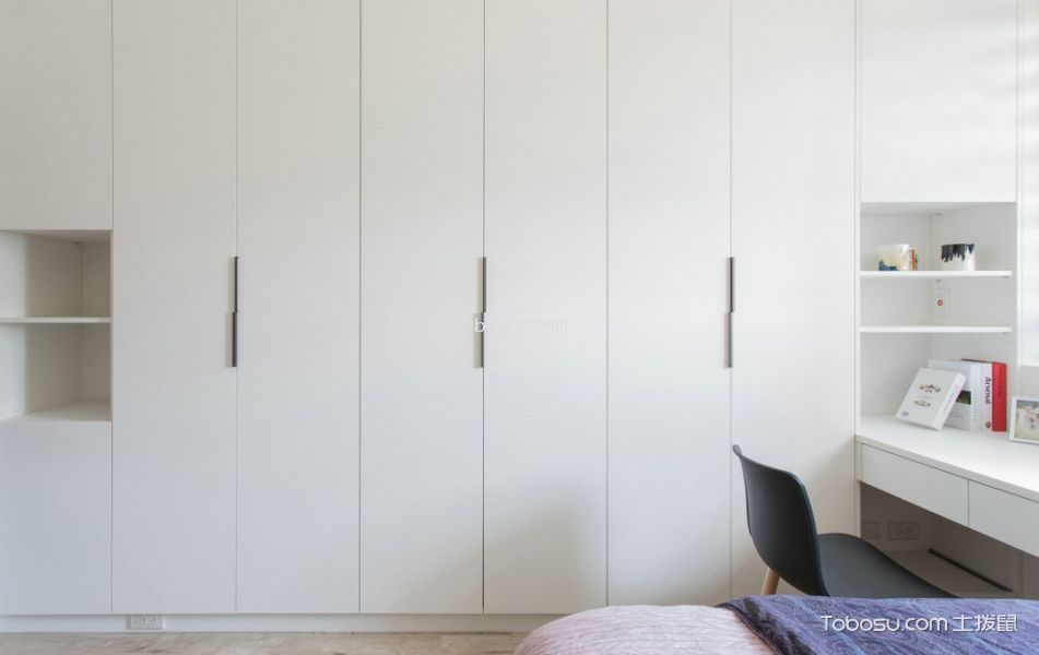 卧室白色衣柜日式风格装饰效果图