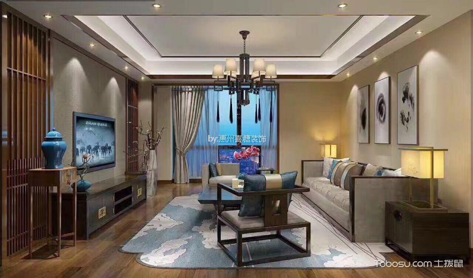 120平米套房新中式风格装修效果图