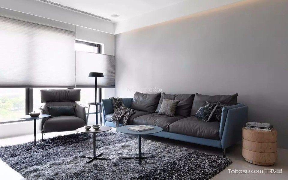 金色港湾107平米简约风格两居室装修效果图