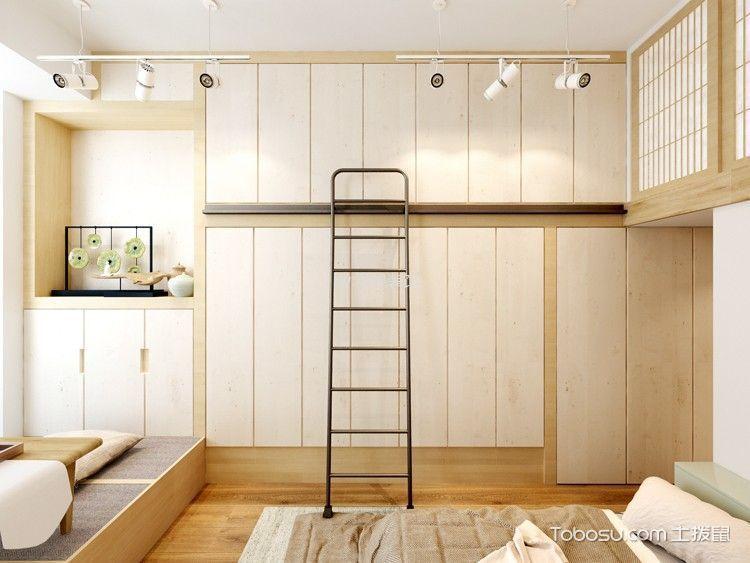 卧室白色衣柜日式风格装修图片