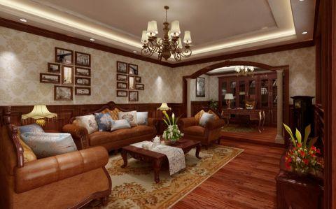 美式风格385平米复式室内装修效果图