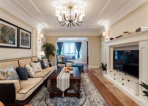 混搭风格90平米3房2厅房子装饰效果图
