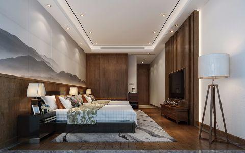 中式卧室背景墙装修美图