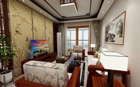 香榭丽公馆100平中式风格三居室装修效果图
