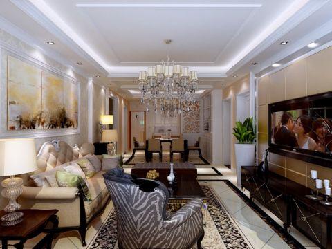 新古典风格117平米三室两厅室内装修效果图