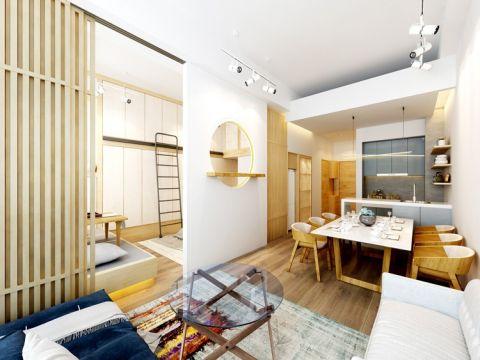 金茂悦龙山70平米小户型日式风格装修效果图