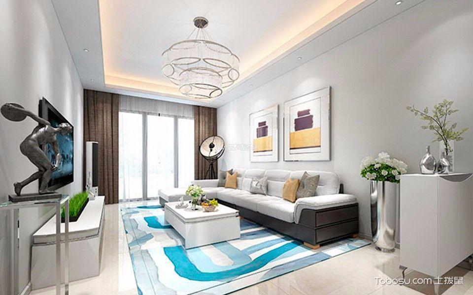 世纪华城香榭丽舍100平方套房简欧风格装修效果图