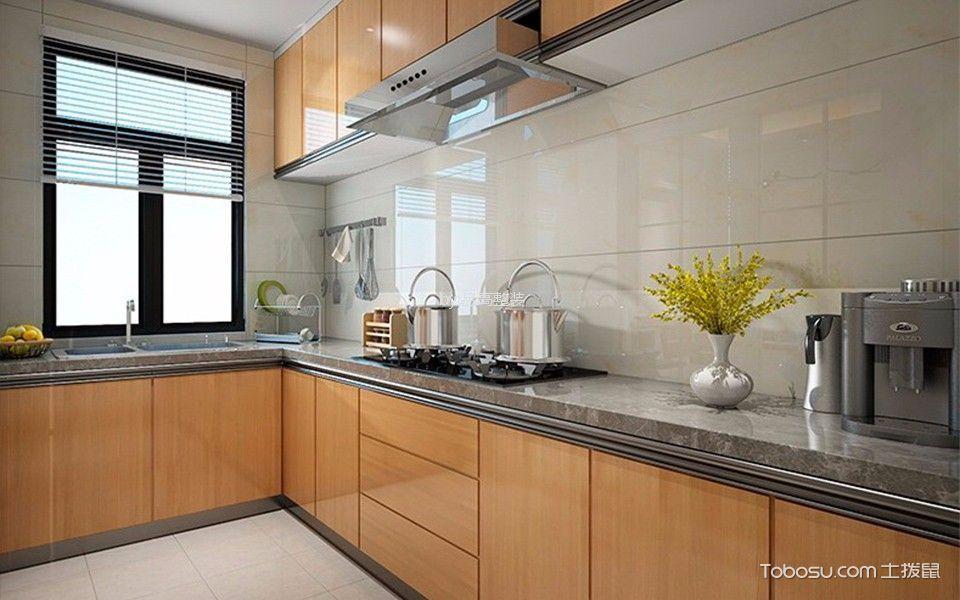 厨房白色背景墙简欧风格装修效果图