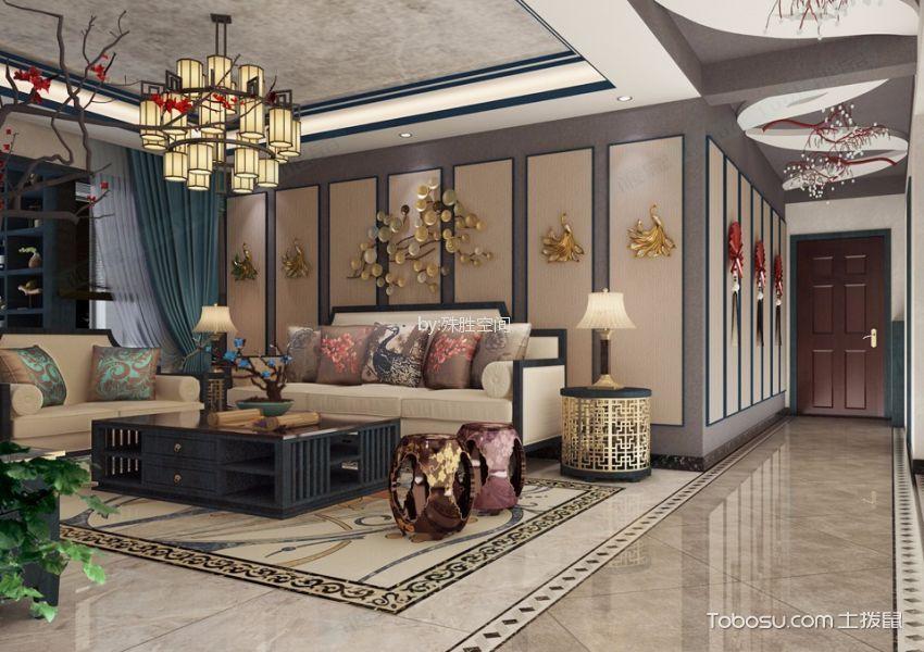 郑州商都嘉园新中式风格四居室装修效果图
