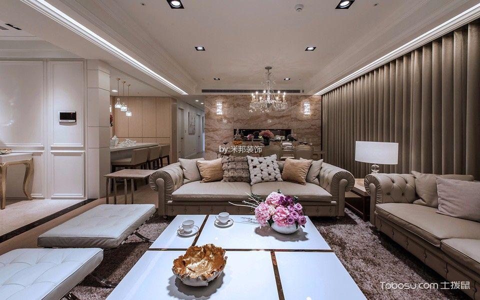 玉兰广场130平简欧风格三居室装修效果图