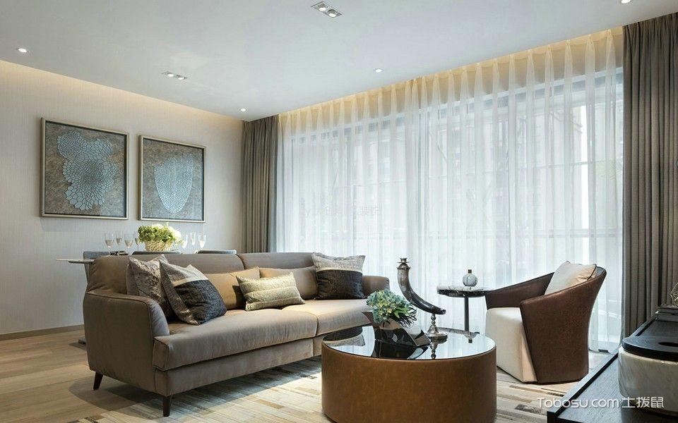 现代简约风格80平米2房2厅房子装饰效果图