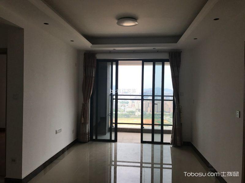 深圳光明一号两室两厅现代风格80平米装修实景图