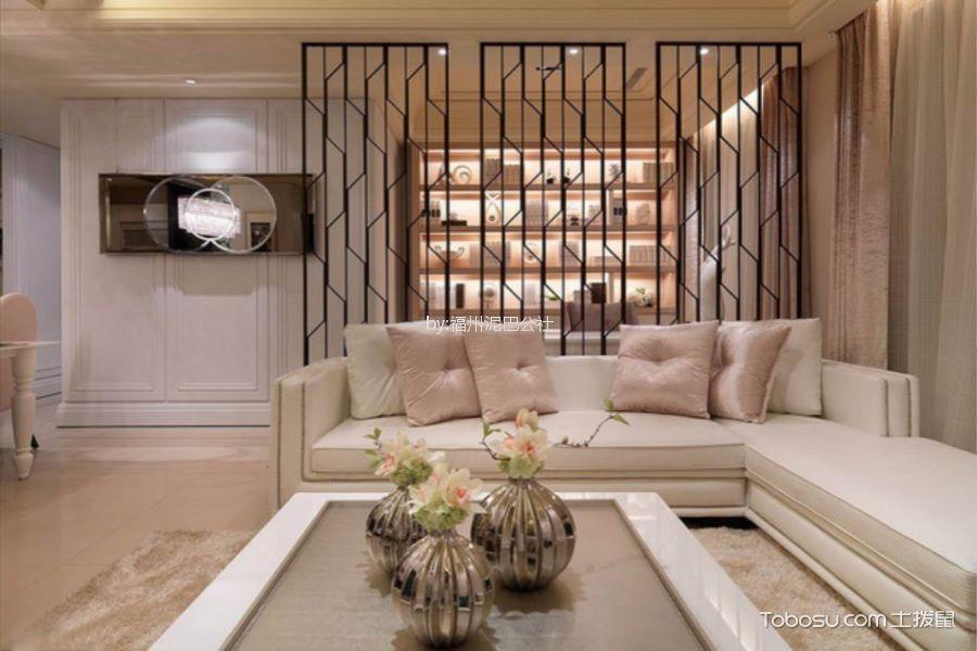 皇鼎公馆三室一厅131平法式风格装修效果图