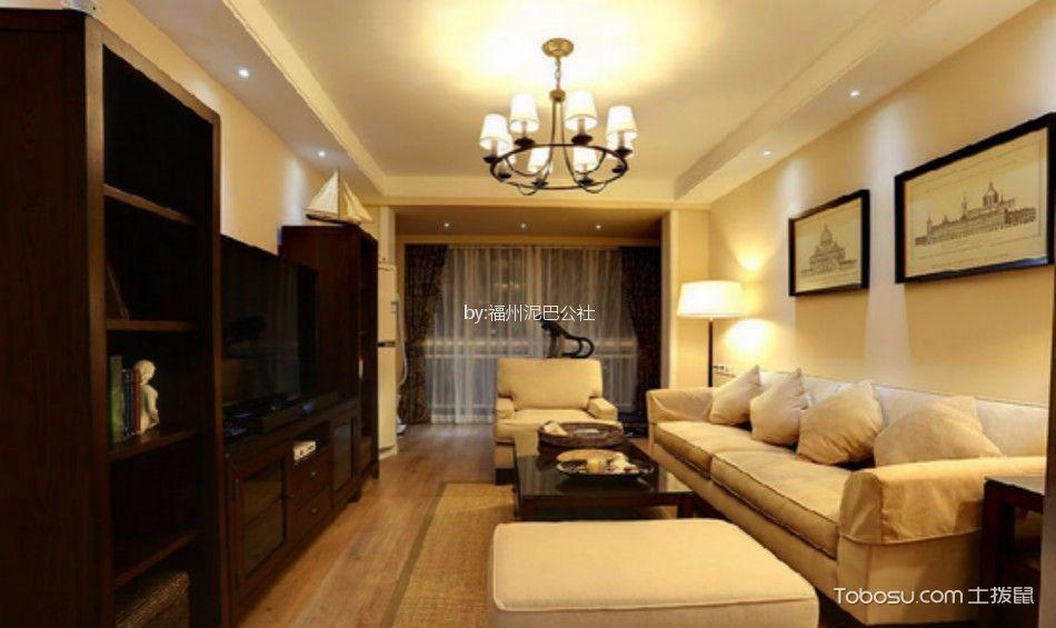 美式风格80平米公寓房子装饰效果图